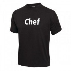 CAMISETA CHEF NEGRA