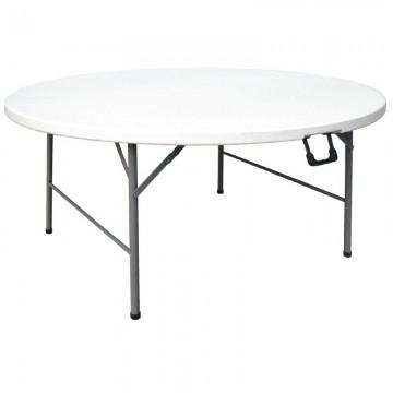 Venta de mesa redonda tablero y patas plegables en for Mesas tableros plegables