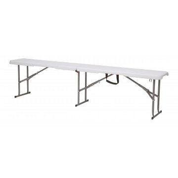 BANCO PLEGABLE MULTIUSOS BLANCO 183 cm.