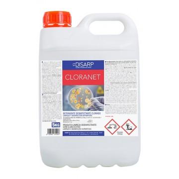 CLORANET. Detergente desinfectante clorado. Limpiador desinfectante perfumado.