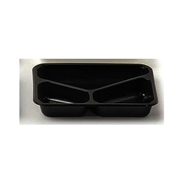 ENVASE GASTRONORME PP NEGRO 3C TERMOSELLABLE-325 x 265