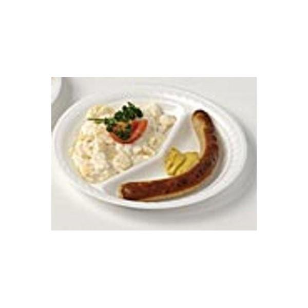 Venta de plato foam 260 mm 2 compartimentos en for Platos con compartimentos