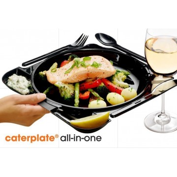 PLATO CATERPLATE + CUBIERTOS