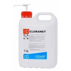 CLORANET. Detergente higienizante con cloro activo