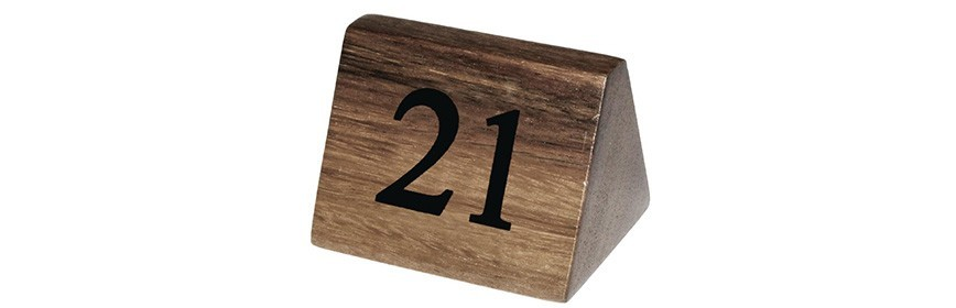 Numeración de las Mesas